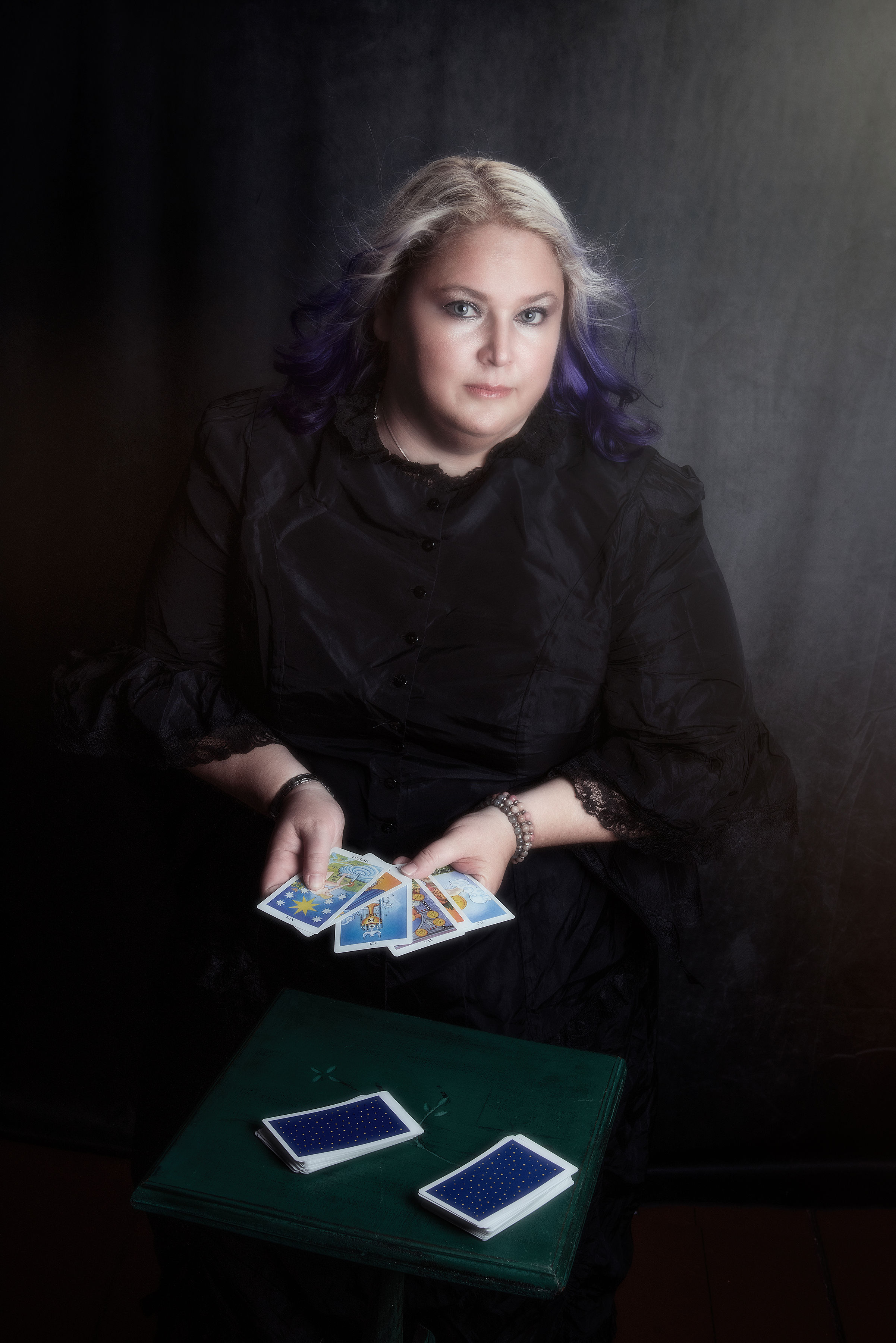 Tori With Tarot Cards